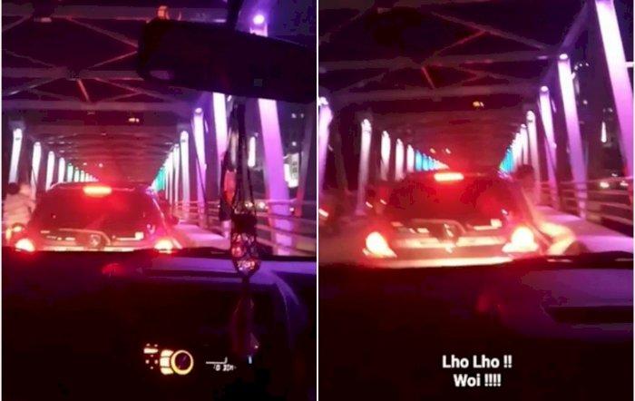 Viral Video Pengendara Mobil Buang Sampah Ke Sungai