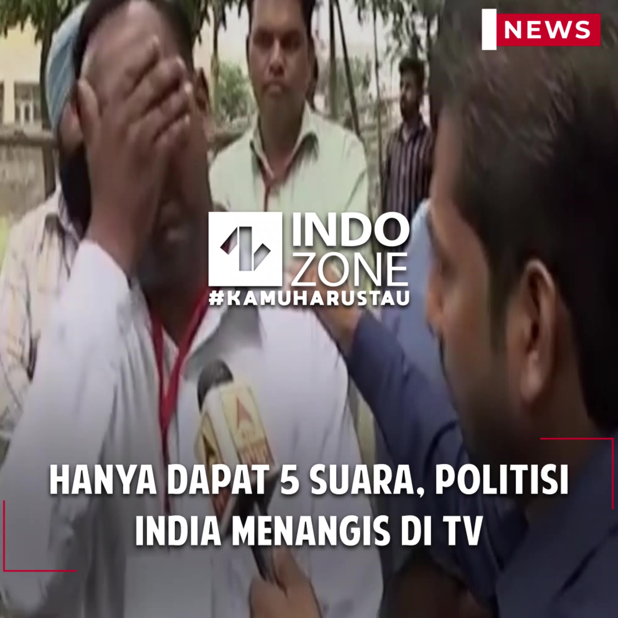 Hanya Dapat 5 Suara, Politisi India Menangis di TV