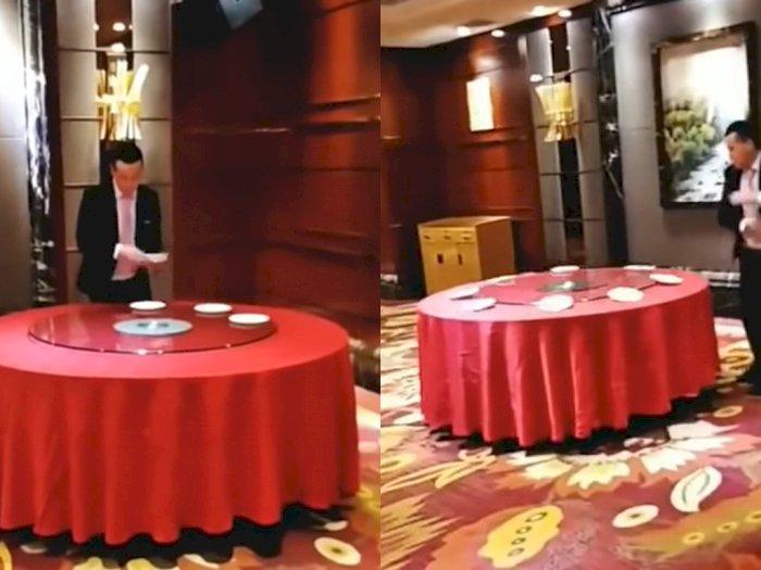Cara Menata Meja Ala Pegawai Hotel Ini Bikin Melongo!