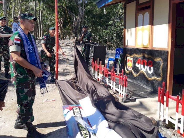 Yonif Raider 408/SBH Bedah Rumah Warga Perbatasan RI - Timor Leste