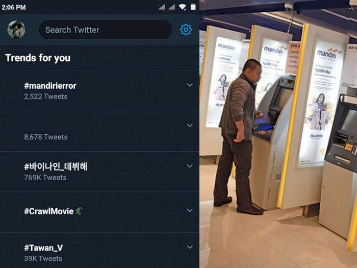 #MandiriError Jadi Trending Topic Nomor 1 di Sosial Media Twitter