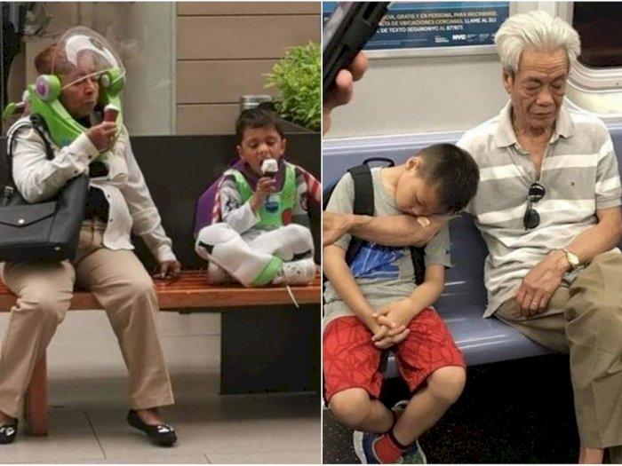 6 Momen Kakek & Nenek Ini Tunjukkan Besarnya Cinta kepada Sang Cucu