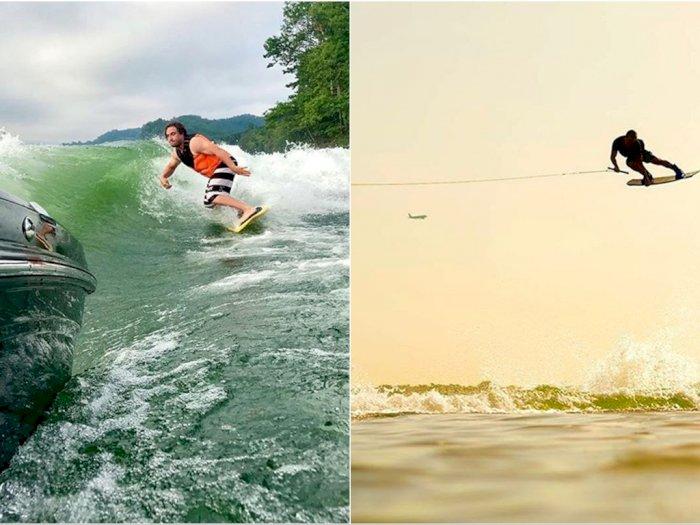 Begini Trik Luar Biasa Seorang Wakeboarder Saat Lakukan  Challenge