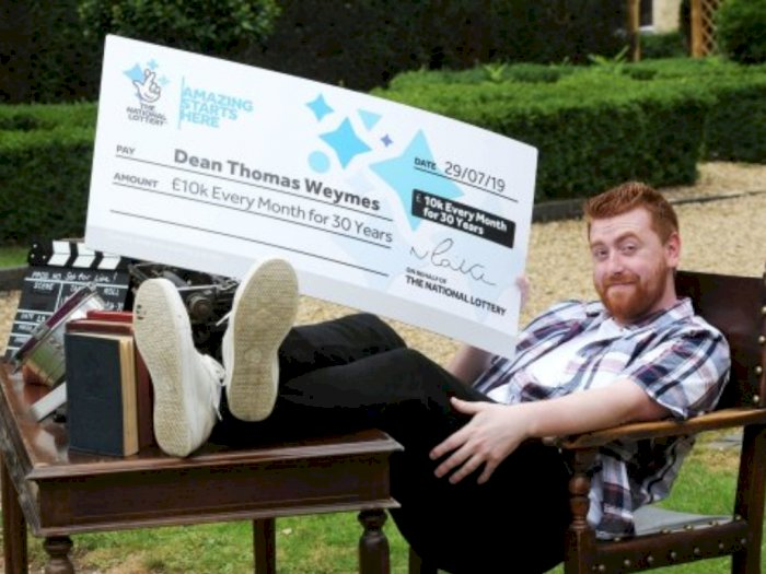 Baru Pertama Ikut Undian Lotre, Pria Ini  Menang Hadiah Rp 556 Miliar