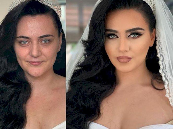 180 Derajat Berbeda, Hasil Makeup Pria Ini Bikin Takjub