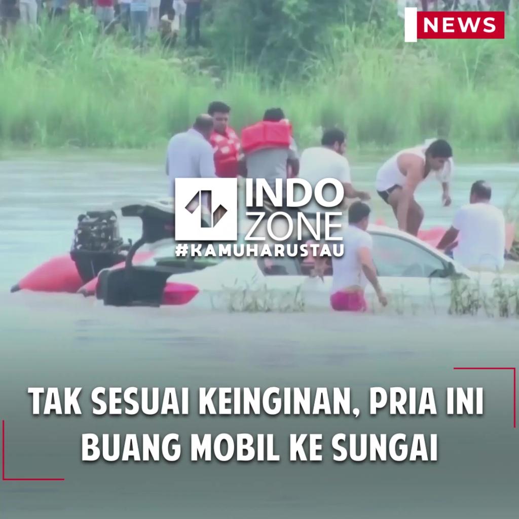 Tak Sesuai Keinginan, Pria Ini  Buang Mobil ke Sungai