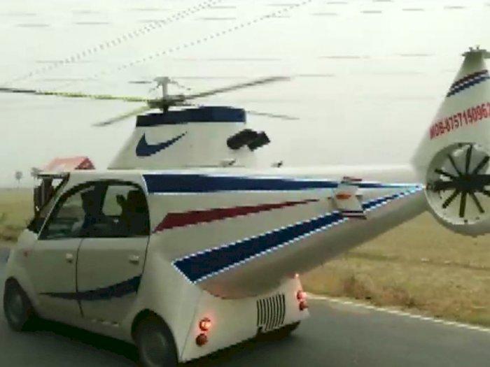 Pria Ini Sulap Mobilnya Jadi Helikopter