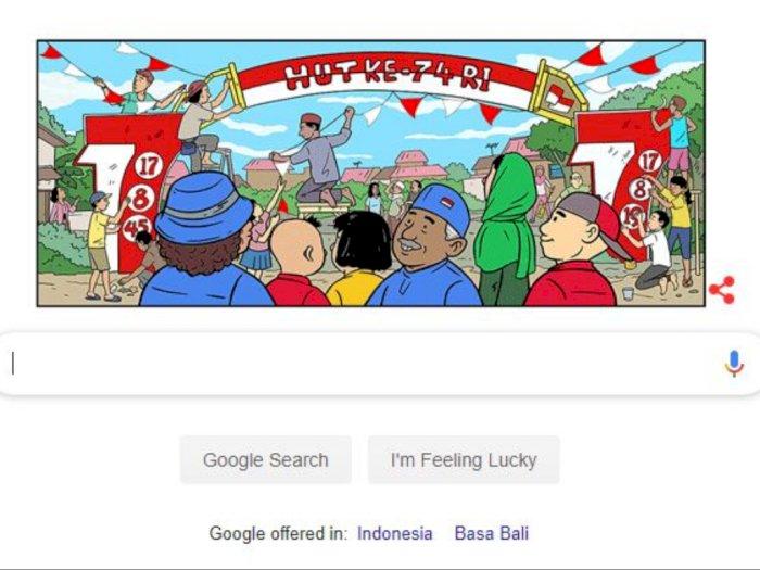 Google Doodle Ikut Merayakan HUT RI Ke-74