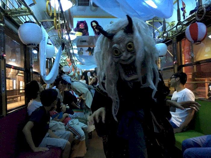 Hii Serem, Pengguna Kereta di Kyoto Dikejutkan Dengan Makhluk Ini