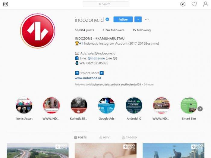 Kado Instagram di Ulang Tahun Kelima Indozone