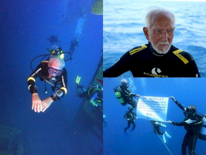 Wow! Meski Sudah Berusia 96 Tahun, Veteran Ini Masih Sanggup Menyelam