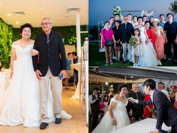 Perayaan Ulang Tahun Pernikahan Kakek dan Nenek Ini Romantis Banget!