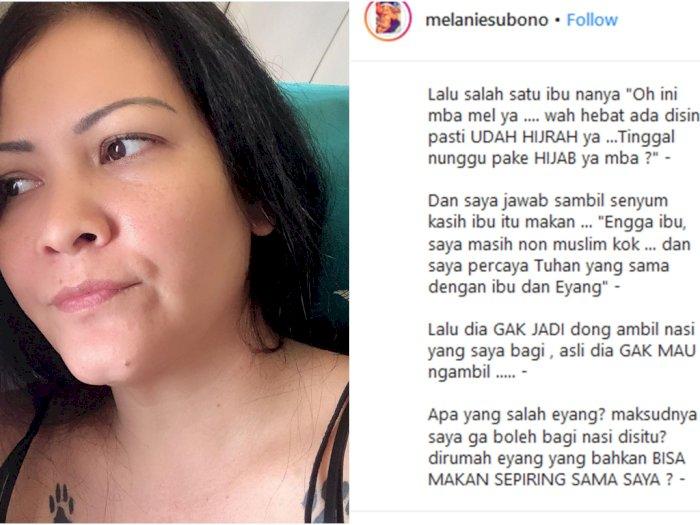 Melanie Subono Curhat Nasi Pemberiannya Ditolak Karena Perbedaan Agama