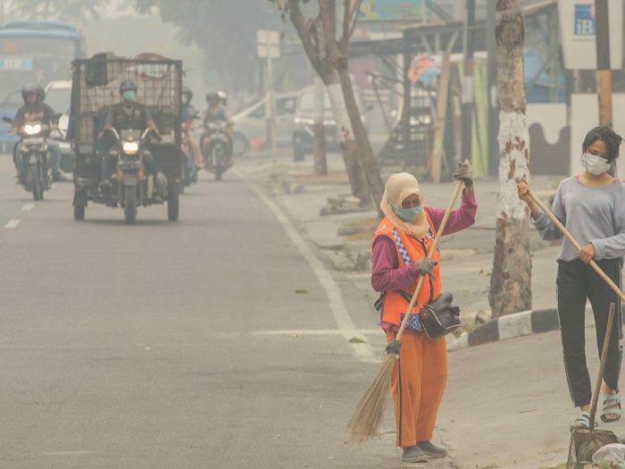 Polri: Asap di Pekanbaru Tak Seperti Diberitakan Media Massa