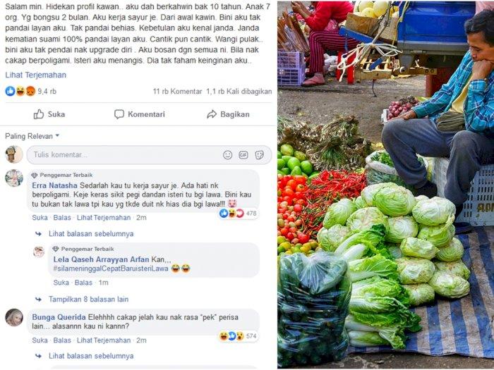 Curhat Penjual Sayur Sebut Istri Tak Menarik Lebih Tertarik Janda Indozone Id