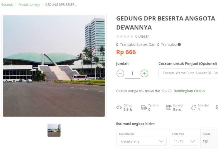 Viral, DPR dan Anggotanya Dijual di Toko Online Ini