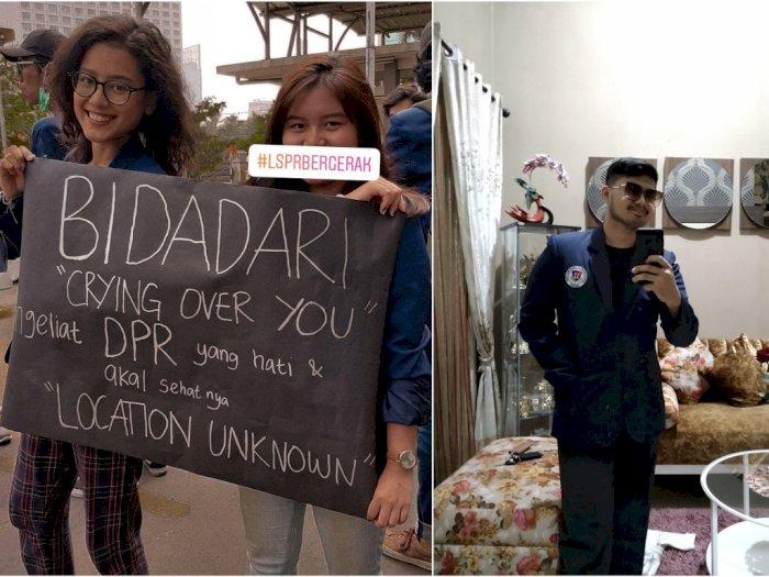 Gaya Modis dan Elegan Mahasiswa LSPR Saat Demo