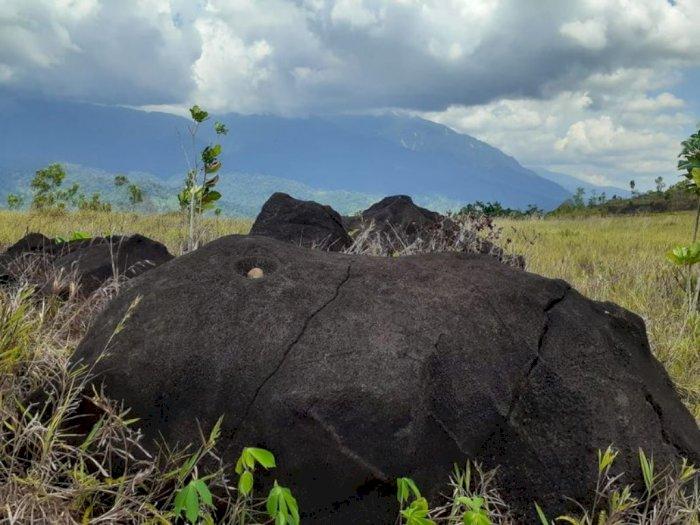 FOTO: Temuan Peninggalan Megalitikum di Lapangan Tembak TNI Papua