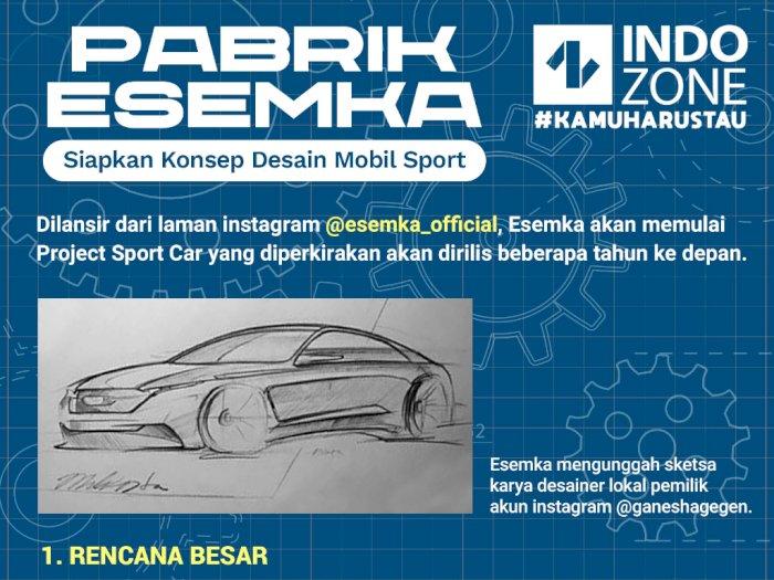 Pabrik Esemka Siapkan Konsep Desain Mobil Sport