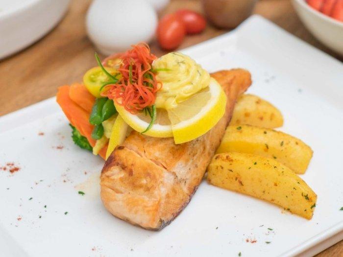 Resep Salmon Fillet Panggang Lemon