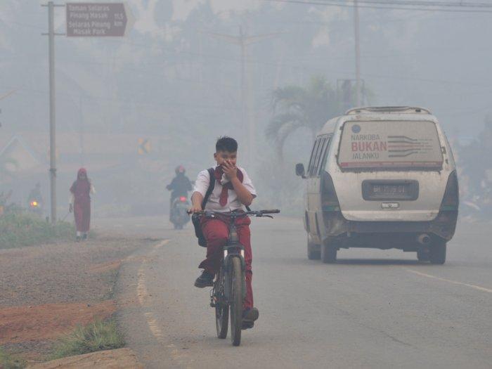 Jambi Kembali Diselimuti Kabut Asap