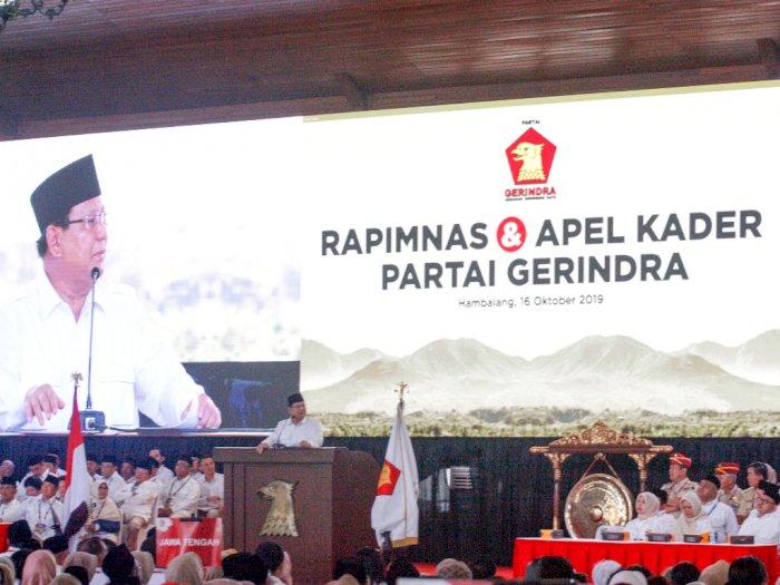Rapimnas Digelar Tertutup, Prabowo Sampaikan 3 Sikap Politik