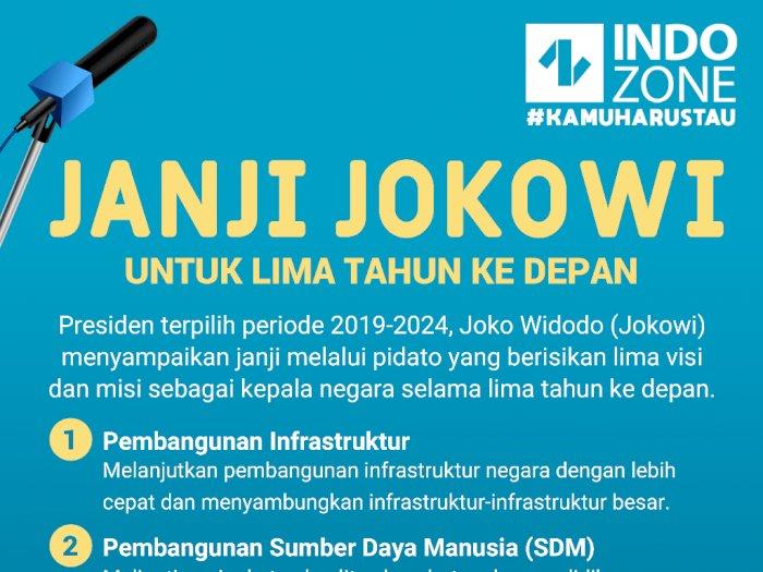 Janji Jokowi Untuk 5 Tahun Ke Depan