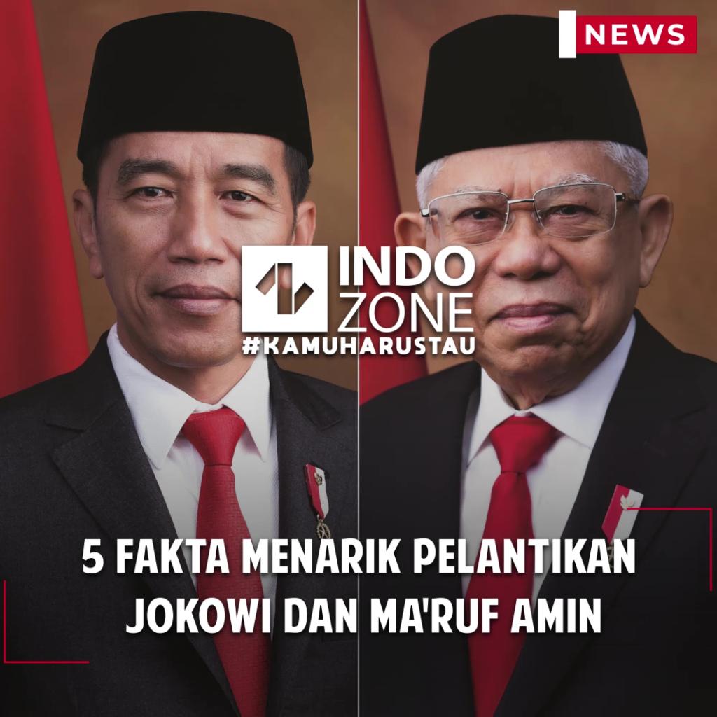 5 Fakta Menarik Pelantikan Jokowi dan Ma'ruf Amin