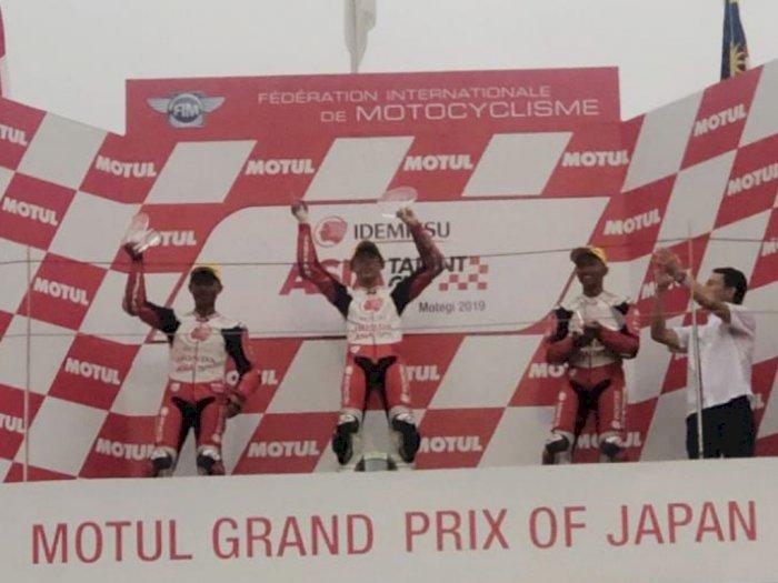 Pembalap Astra Honda Raih Podium ATC Motegi