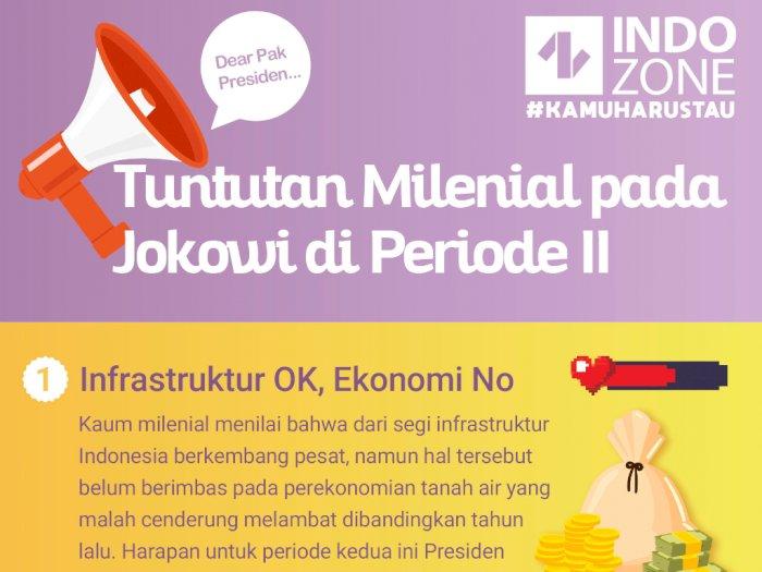 Tuntutan Milenial pada Jokowi di Periode II