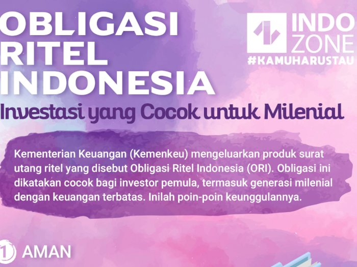 Obligasi Ritel Indonesia (ORI), Investasi yang Cocok untuk Milenial