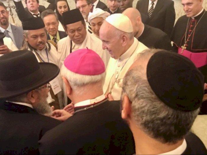 Wakil NU dan Muhammadiyah Bertemu Paus Fransiskus