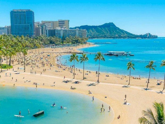 Pantai Waikiki di Hawaii yang Terancam Hilang
