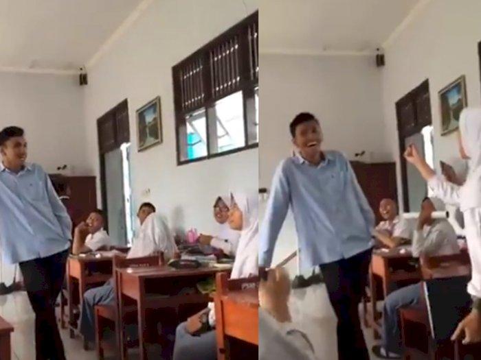Digombali Gurunya di Kelas, Siswi Ini Auto Klepek-klepek