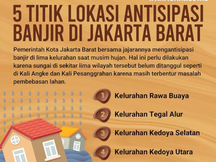 5 Titik Lokasi Antisipasi Banjir di Jakarta Barat