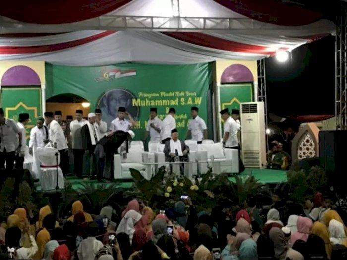 Wapres Ma'ruf Hadiri Peringatan Maulid Nabi di Banten Disambut Selawat