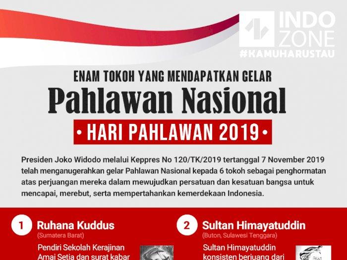 Enam Tokoh yang Mendapatkan Gelar Pahlawan Nasional 2019