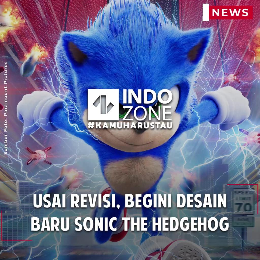 Usai Revisi, Begini Desain Baru Sonic the Hedgehog