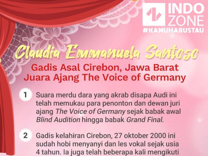 Claudia Emmanuela Santoso, Gadis Cirebon Juara The Voice of Germany