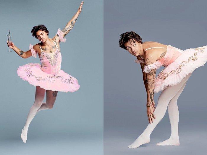 Posting Foto Pakai Rok Balerina, Harry Styles Bikin Fans Ribut