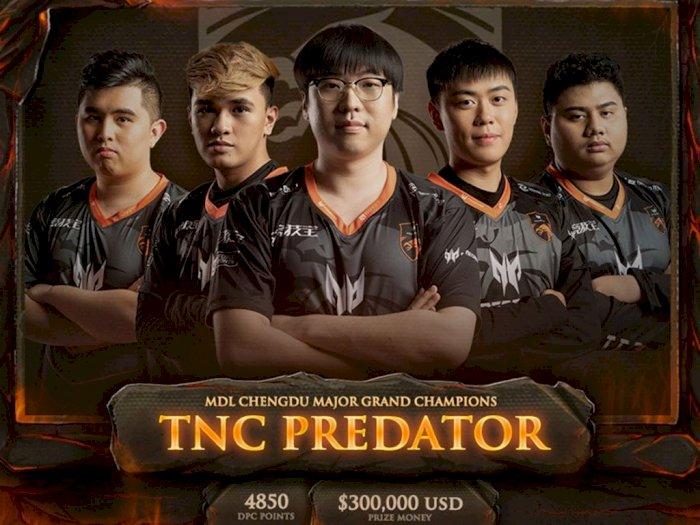 Tampil Menakjubkan, TNC Predator Juarai Turnamen MDL Chengdu Major