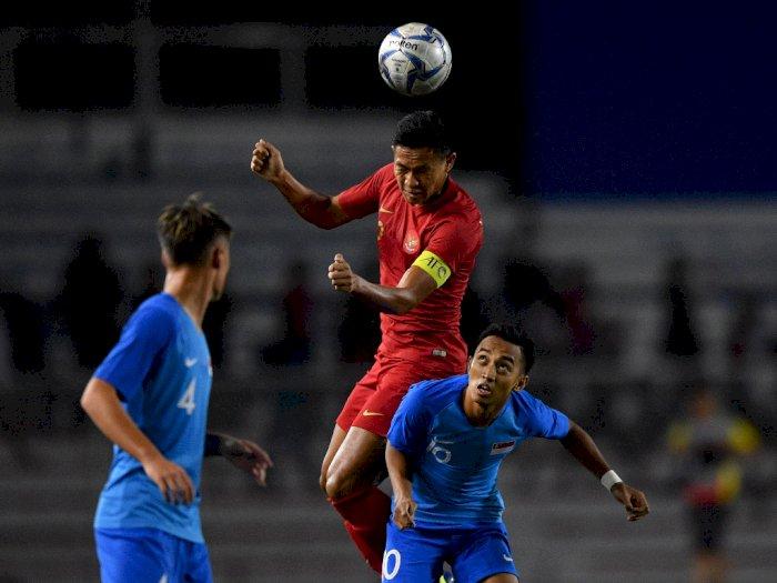 Sama Kuat, Indonesia dan Singapura Imbang Tanpa Gol di Babak Pertama