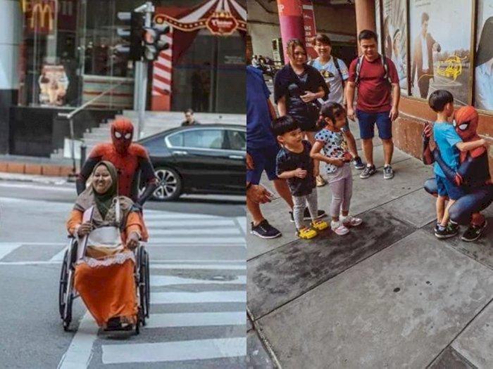Kisah Pria Berkostum Spiderman demi Biaya Berobat Istri Ini Bikin Haru