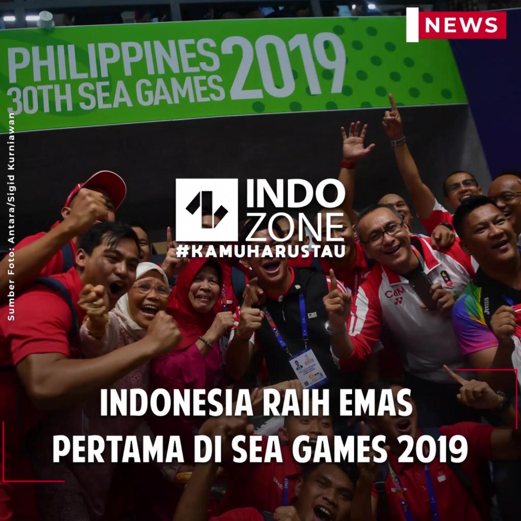 Indonesia Raih Emas Pertama di SEA Games 2019