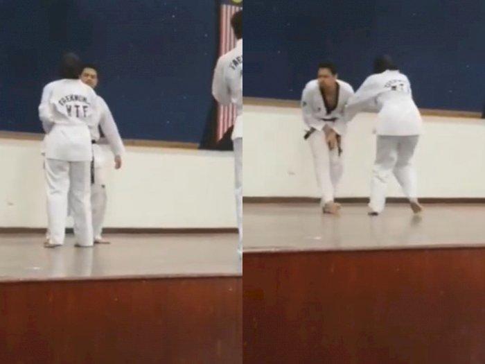 Taekwondoin Pemula Ini Bikin KO Pemegang Sabuk Hitam dengan Satu Jurus