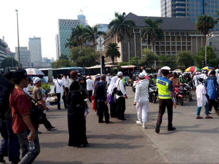Massa reuni 212 Bubar, Polisi - FPI Kompak Atur Lalu Lintas