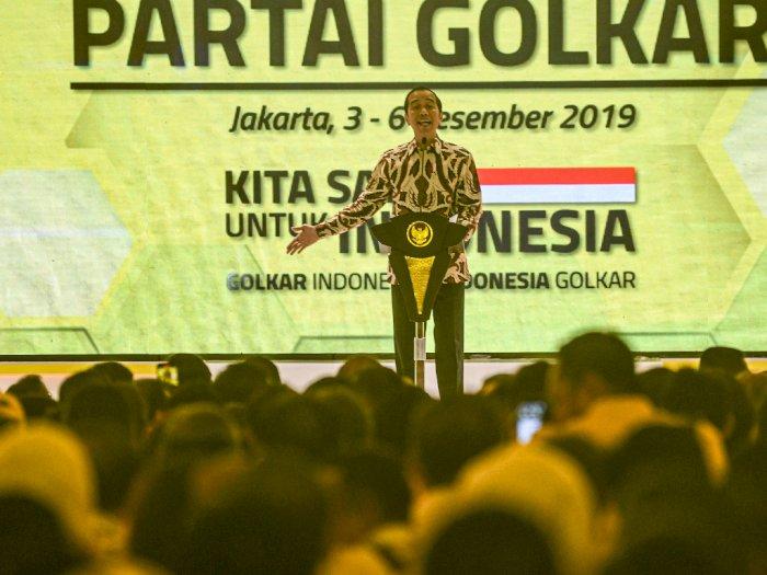 Golkar Rukun Saat Munas, Jokowi Puji Bamsoet