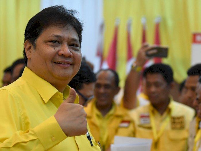 Janji Rangkul Bamsoet, Airlangga Ibaratkan Pesawat Double Engine
