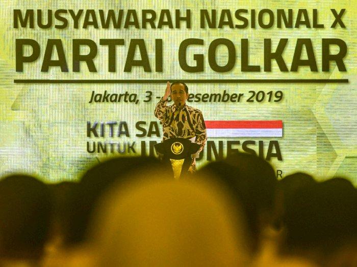 Presiden Jokowi Minta Golkar Dukung Kebijakan Omnibus Law
