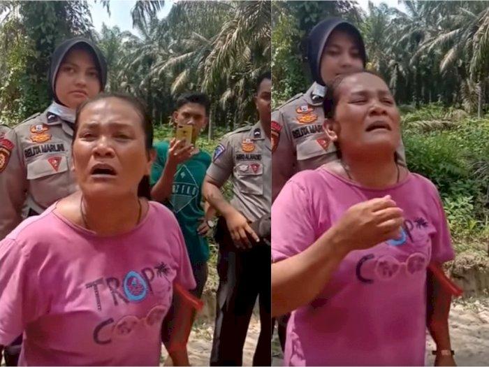 Wanita Ini Nangis karena Tanahnya hanya Dihargai Rp18 Ribu per Meter